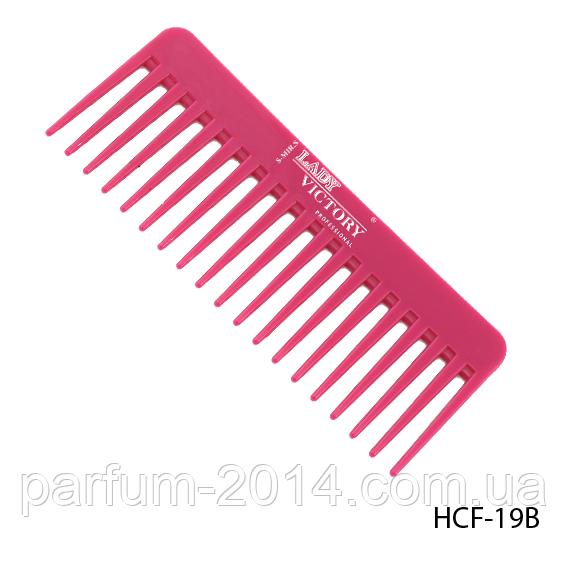 Расческа-гребень пластиковая HCF-19B с редкими длинными зубцами, размер: 15,5х6 см