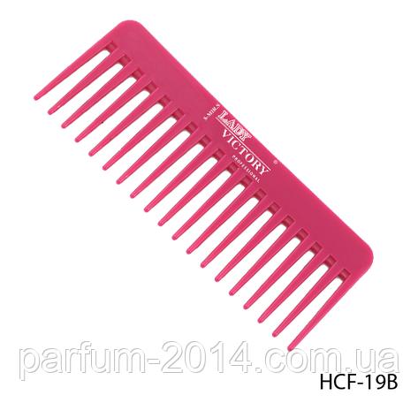 Расческа-гребень пластиковая HCF-19B с редкими длинными зубцами, размер: 15,5х6 см, фото 2