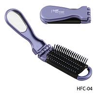 Расческа компактная HFC-04 массажная с зеркалом, складная, прямоугольная, размер: 21х4 см