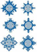 Снежинки (счетный крест , бисер)
