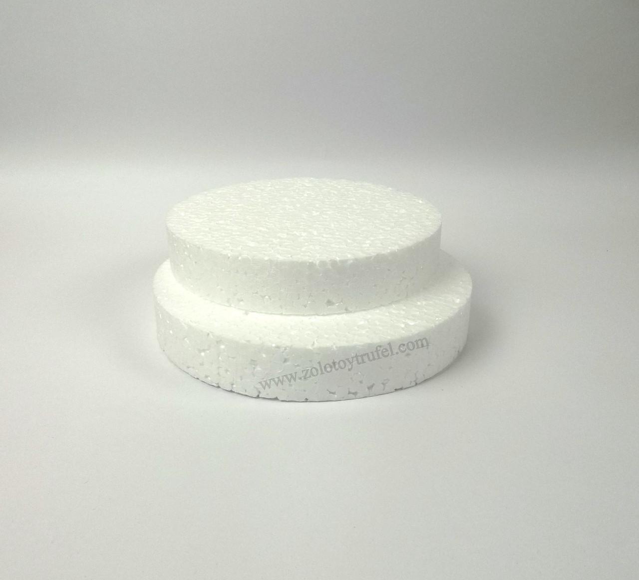 Прослойка пенопластовая для торта d 8 см h 3 см