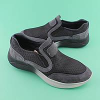 Летние кожаные серые кроссовки для мальчика подростка размер 36,37,38,39