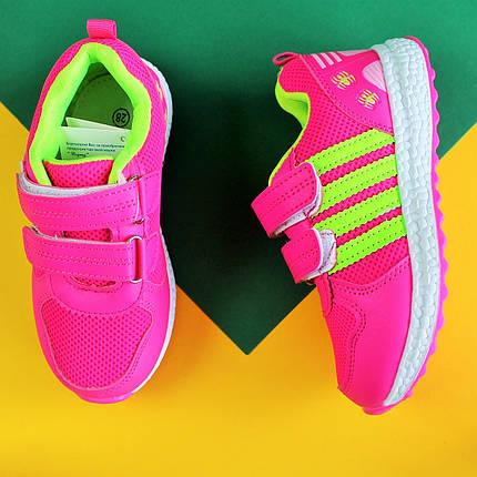 Розовые кроссовки для девочки с полосками тм Том.м р.28,30, фото 2