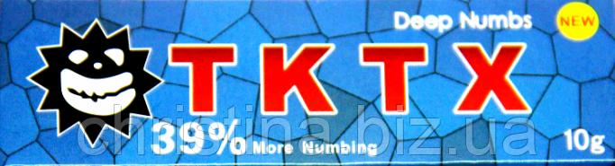 Крем анестетик для кожи TKTX 39% (Blue)10гр. Лидокаин 5%, Прилокаин 5%, Эпинефрин 1%