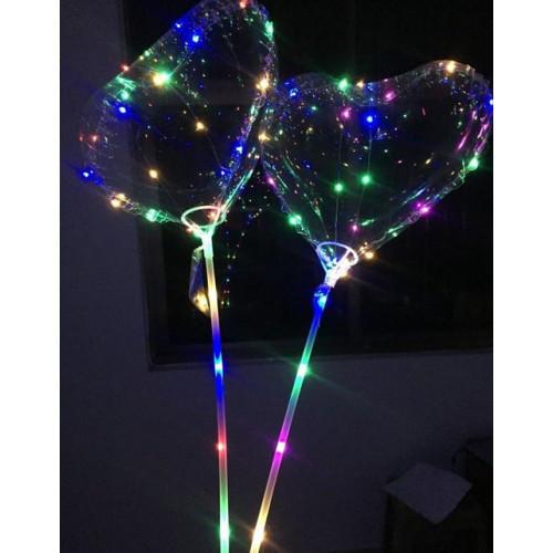 Шарики воздушные с подсветкой BOBO-  BALLOONS-сердечко (50 шт. в упаковке)