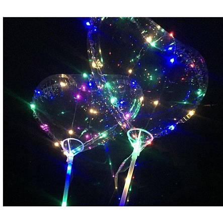 Шарики воздушные с подсветкой BOBO-  BALLOONS-сердечко (50 шт. в упаковке), фото 2