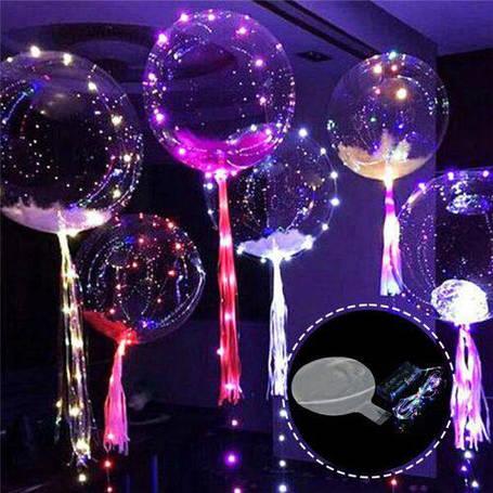 Шарики воздушные с подсветкой ROUND BOBO-BALLOONS (минимальный заказ от 50 ти штук), фото 2