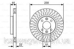 Передний (вентилируемый) тормозной диск на Logan 2 BOSCH 0986479A86