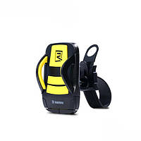 Держатель телефона для мотоциклов и велосипедов Remax Holder RM-C08 (black-yellow), фото 1