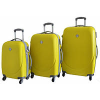 Набор чемоданов на колесах Bonro Smile Желтый 3 штуки