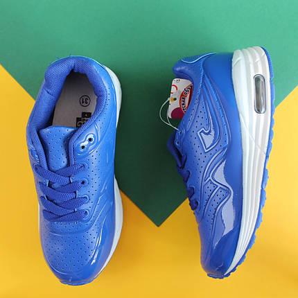 Синие кроссовки Аир Макс на мальчика детская спортивная обувь AIR MAX тм JG р.31,33, фото 2