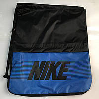 "Сумки рюкзаки для обуви ""затяжки"" Nike (черный+син)35*44, фото 1"