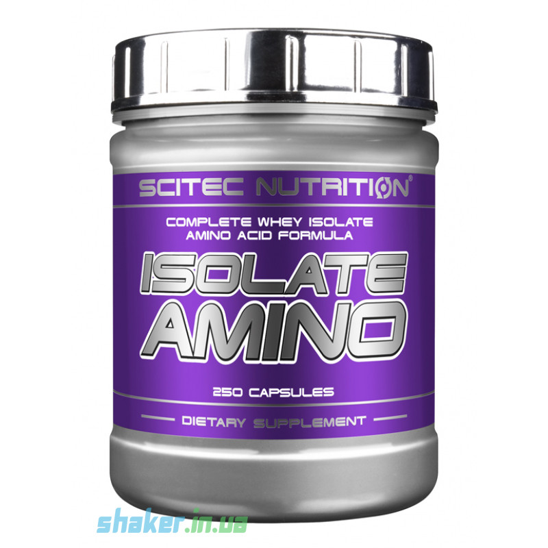 Комплекс аминокислот Scitec Nutrition Isolate Amino (250 капс) скайтек изолят амино