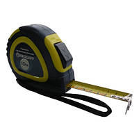 Рулетка строительная 10м*25мм профессиональная с автостопом полотна и магнитом СТАНДАРТ PMT-1025