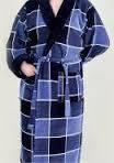 Мужской халат натуральный клетка XL