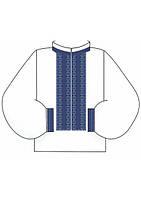 Орнамент мужской сорочки (счетный крест, бисер)