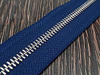 Молния металлическая №5 никель на темно синей основе 226 Италия