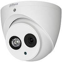 Dahua DH-HAC-HDW1400EMP-A (2.8 мм) - 4Мп купольная антивандальная HD-CVI видеокамера с встроенным микрофоном
