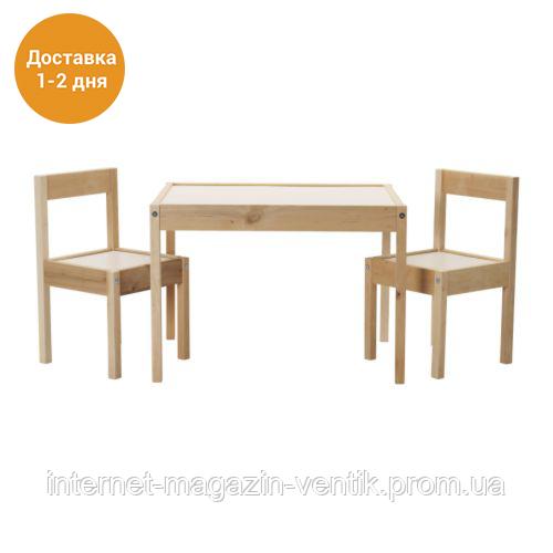 Детский стол со стульями IKEA ЛАТТ 501.784.11