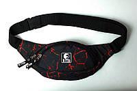 Поясная сумка черная лава Ястребь Double Pack с двумя отделениями