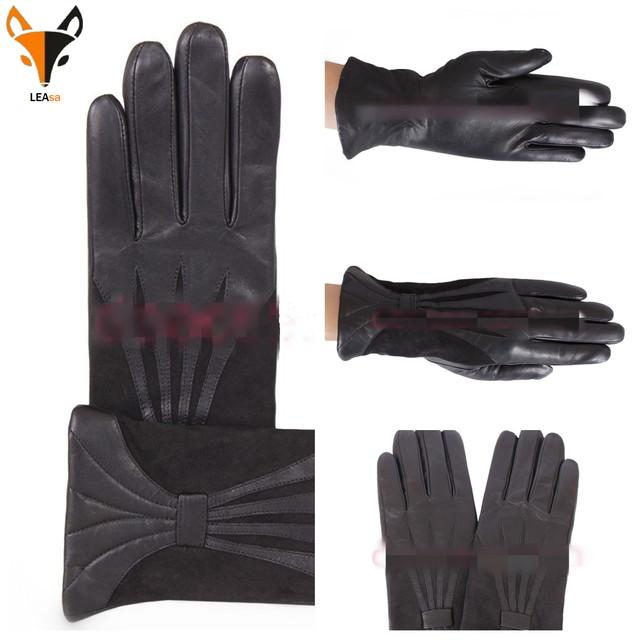 Женские кожаные перчатки De Esse ФОТО
