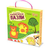 """Деревянные пазлы Rosa N0001902 30х40 """"Лесные животные"""", ROSA KIDS"""