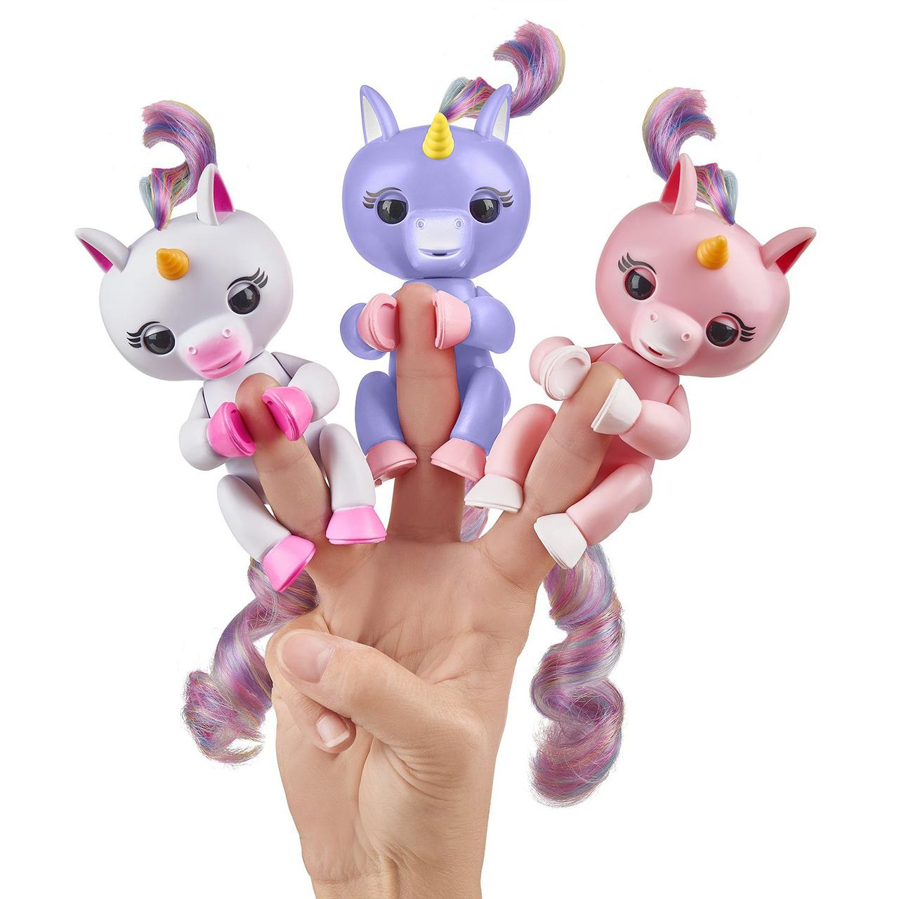 Единорог интерактивный на пальчик , WowWee Fingerlings Baby Unicorn Оригинал из США