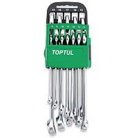 Набор ключей гаечных, комбинированных, рожково-накидных, инструмента для автомобиля на холдере 8-19мм 10ед.