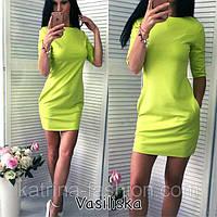 Платье женское  туника длинна 85 см  с карманами красивое и модное 42 44 46 48 50 Р, фото 1
