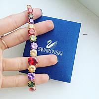 Браслет цветные кристаллы