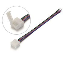 Коннектор 4-pin 10 мм для LED-ленты RGB c 1 соединением