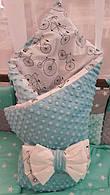 Конверт-одеяло на выписку Минки