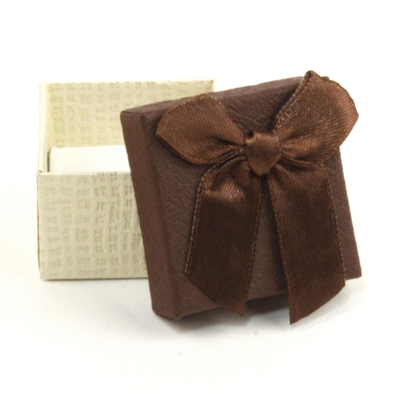 Подарочная коробочка под кольцо коричневая 5 х 5 х 3 см