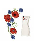 Орнамент для женского платья, сорочки (счетный крест, бисер)