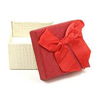 Подарочная коробочка под кольцо красная 5 х 5 х 3 см
