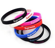 Браслет силиконовый для руки Supreme разных цветов