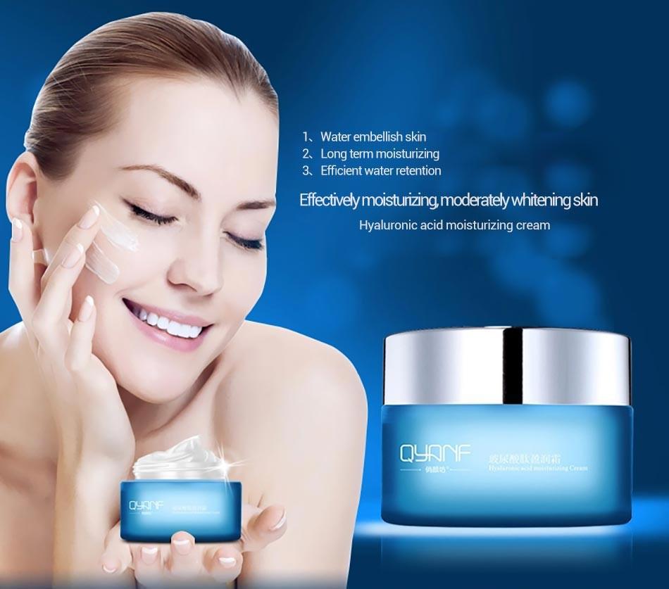 Антивозрастной крем для лица с гиалуроновой кислотой QYANF hyaluronic acid moisturizing cream 50 ml