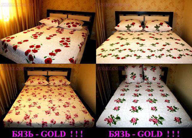 Простыни двуспальные Gold