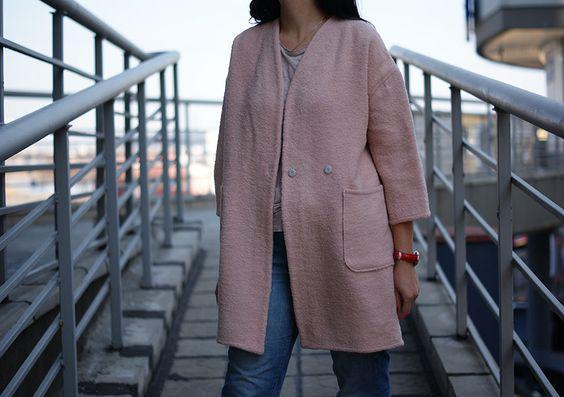 Кардиган женский, жакет букле NKLOOK розовый