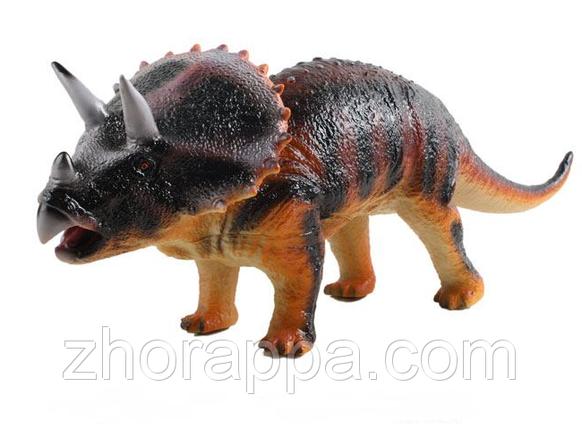 Детская игрушка Динозавр, копия Трицератопса, большой динозавр 2608 Трицератопс. Детские тематические игрушки, фото 2