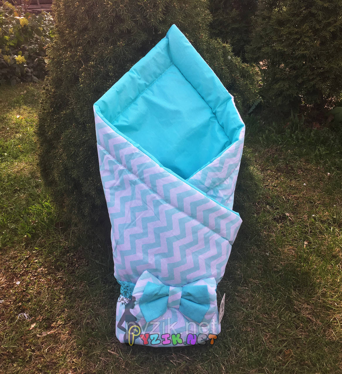 """Конверт-одеяло двухсторонний для новорожденных на выписку и в коляску на синтепоне Lari """"Цвет 4"""""""