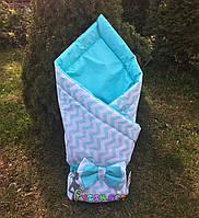 """Конверт-одеяло двухсторонний для новорожденных на выписку и в коляску на синтепоне Lari """"Цвет 4"""" , фото 1"""