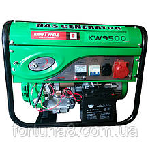 Бензо-Газо генератор KrafTWelle KW9500