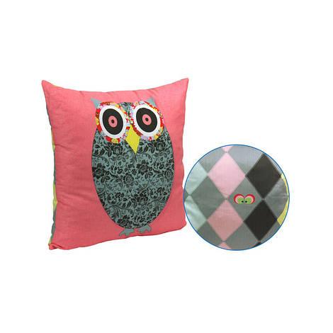 """Декоративная подушка """"Owl Grey"""" 50х50 см (306_Owl Grey)"""
