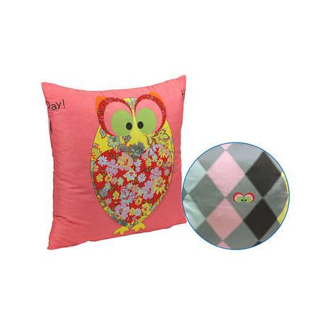 """Декоративная подушка """"Owl Red"""" 50х50 см (306_Owl Red)"""
