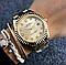 Женские часы Rolex Luxury со стразами золотистые