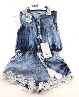 Комбинезон джинсовый на девочку на 3, 5 лет