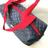 Стеганные сумки оптом джинс (синий+красный)28*40, фото 2