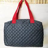 Стеганные сумки оптом джинс (синий+красный)28*40, фото 3