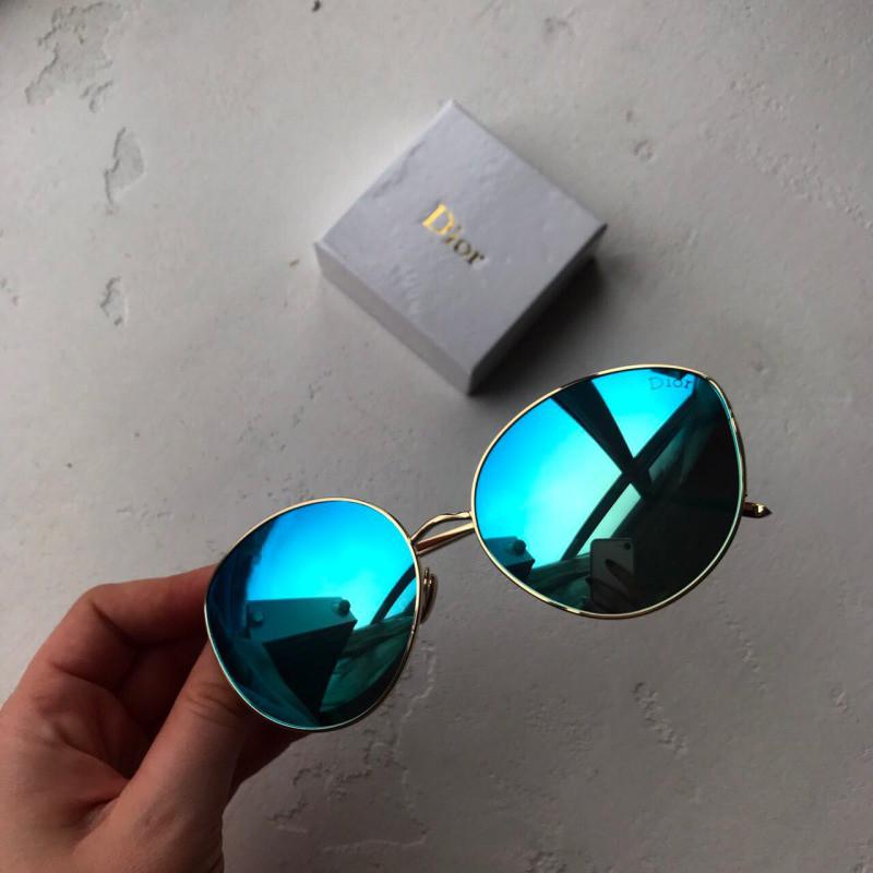 Очки Dior зеркальные ГОЛУБЫЕ